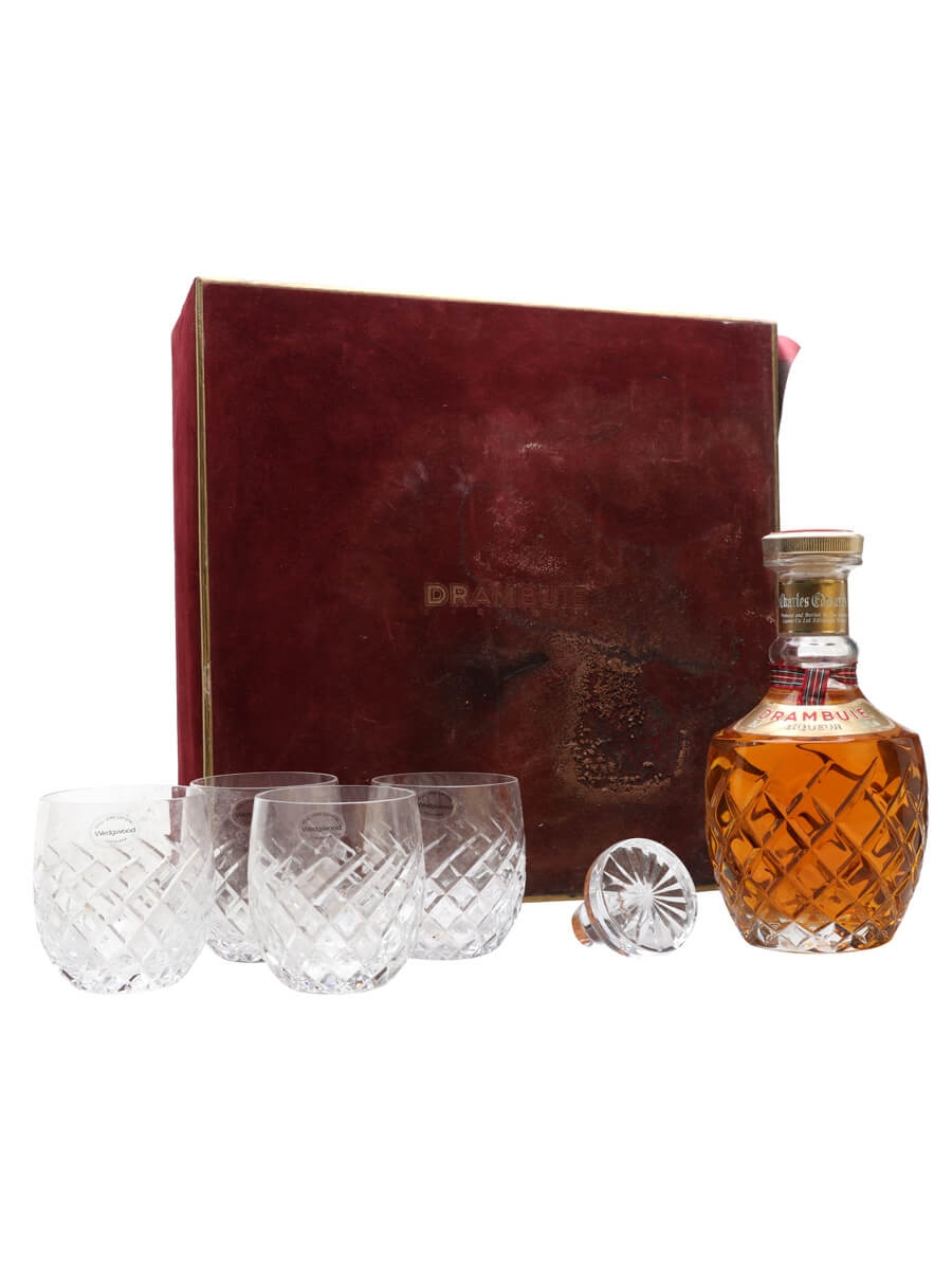 Drambuie Whisky Liqueur Wedgwood Crystal Set / Bot.1980s
