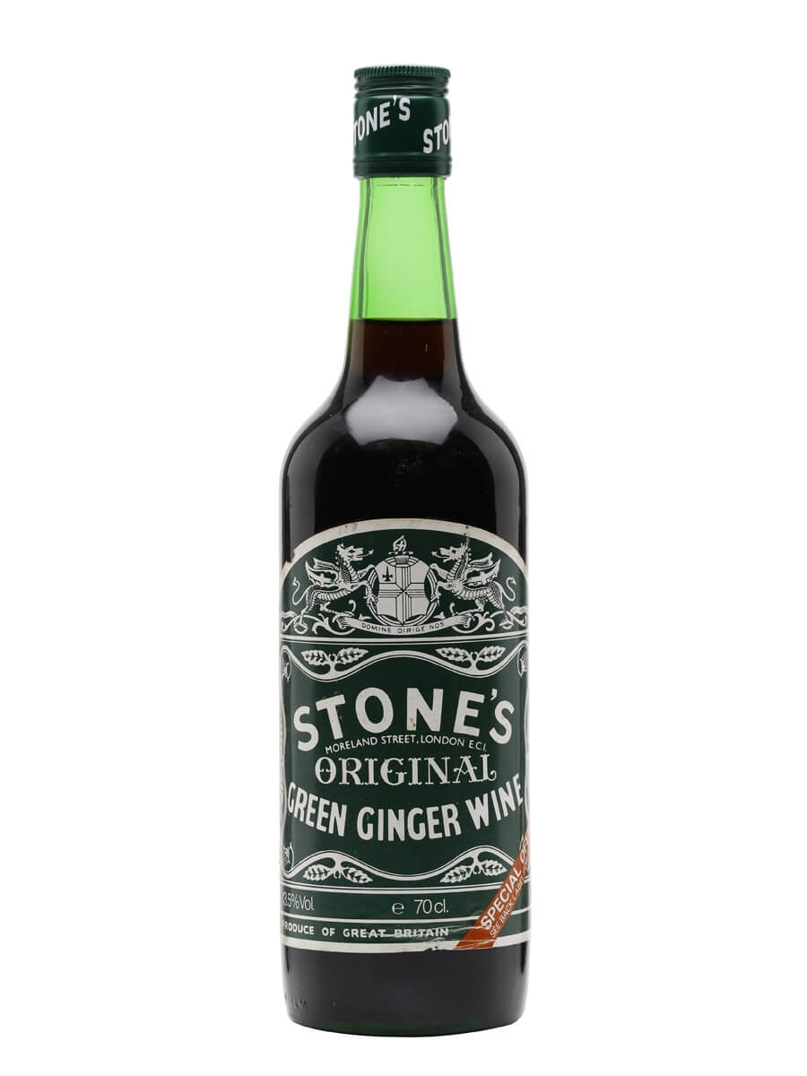 It is a graphic of Monster Stones Ginger Wine Red Label
