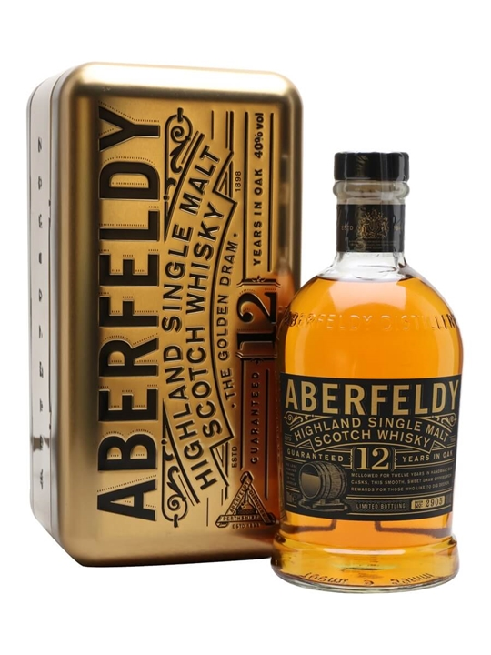 Aberfeldy 12 Year Old / The Golden Dram / Litre Highland Whisky