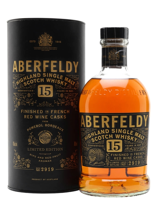 Aberfeldy 15 Year Old / French Red Wine Cask Finish Highland Whisky