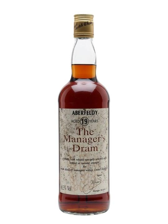 Aberfeldy 19 Year Old / Manager's Dram Highland Whisky
