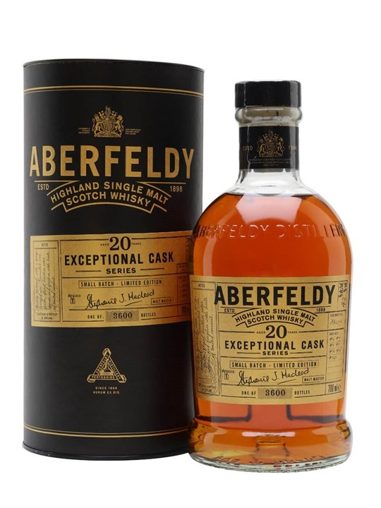Aberfeldy 20 Year Old / Exceptional Cask Series Highland Whisky