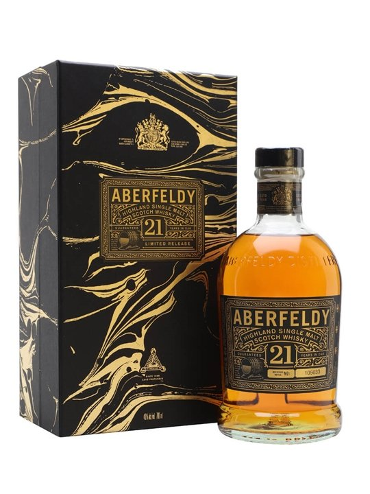 Aberfeldy 21 Year Old / Festive Gift Box Highland Whisky