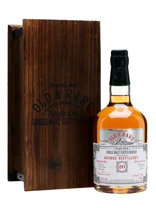Ardbeg 1991 / 20 Year Old / Old & Rare Islay Single Malt Scotch Whisky