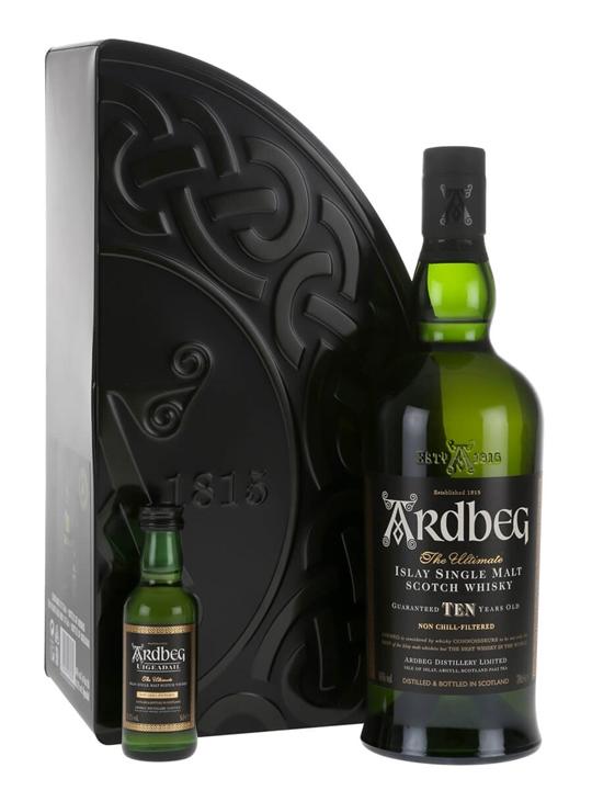 Ardbeg 10 Year Old + Uigeadail Mini Pack Islay Whisky
