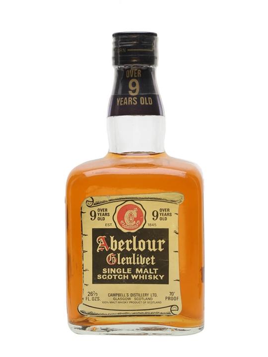 Aberlour Glenlivet 9 Year Old / 1970s Speyside Whisky