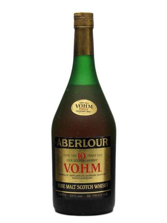 Aberlour 10 Year Old VOHM  1980s Speyside Single Malt Scotch Whisky