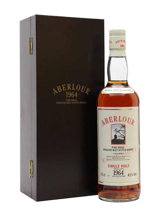 Aberlour 1964  25 Year Old Speyside Single Malt Scotch Whisky