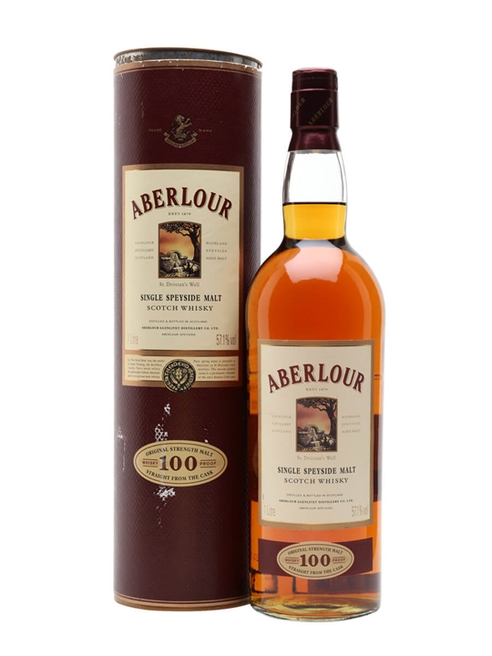 Aberlour 100 Proof / Old Presentation Speyside Whisky