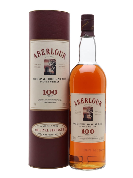 Aberlour 100 Proof / Old Presentation Speyside Whisky