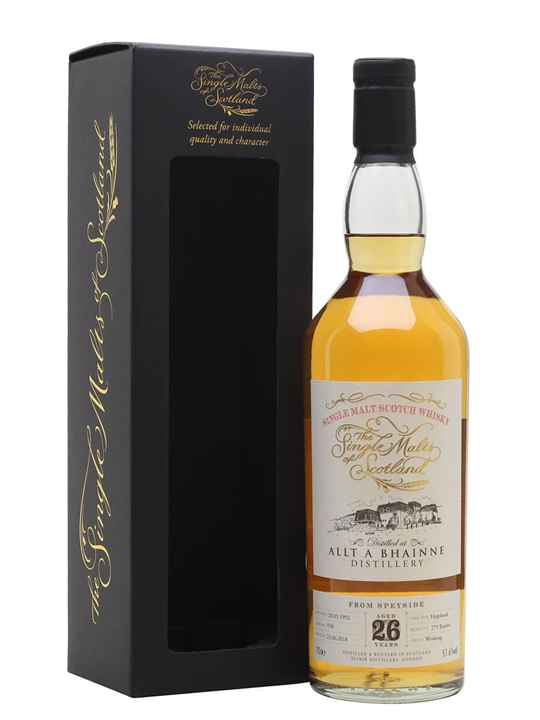 Allt-a-bhainne 1992 / 26 Year Old / Single Malts Of Scotland Speyside Whisky