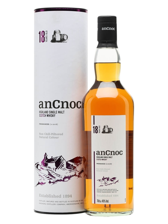 Ancnoc 18 Year Old Highland Single Malt Scotch Whisky