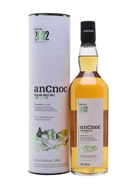 AnCnoc 2002 / Bot.2017 Highland Single Malt Scotch Whisky