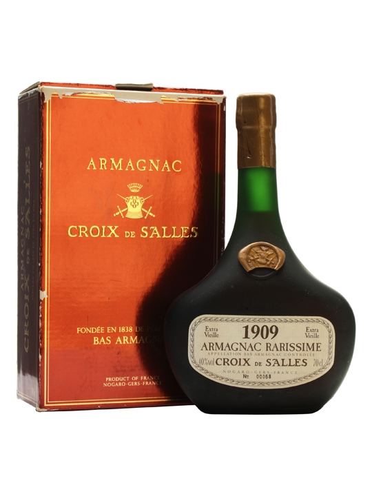 Croix de Salles 1909 Armagnac / Bot. 1986