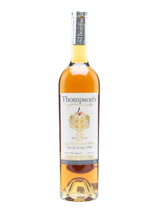Thompson's Arran 1996 / 18 Years Old / Sauternes Cask 1932 Island Whisky