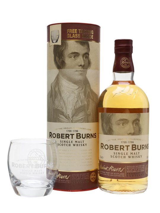 Arran Robert Burns / Glass Pack Island Single Malt Scotch Whisky