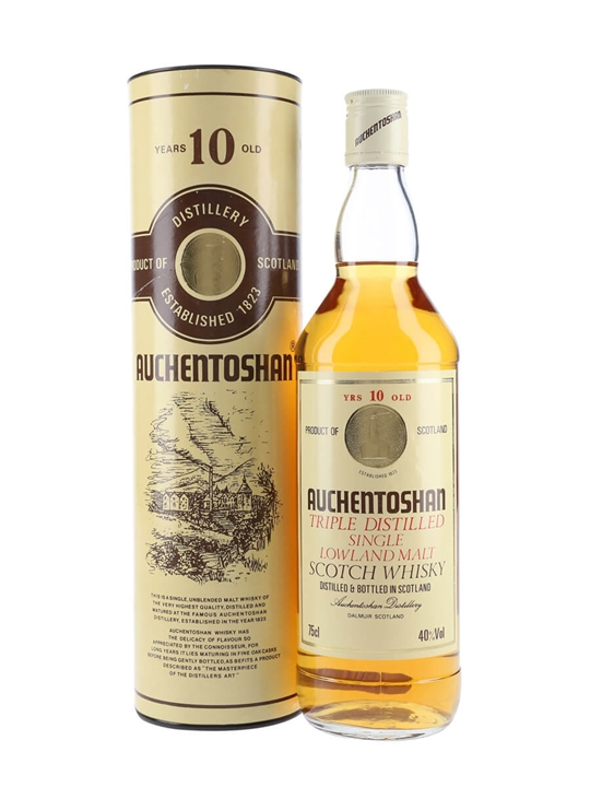 Auchentoshan 10 Year Old / Bot.1980s Lowland Single Malt Scotch Whisky