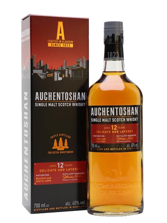 Auchentoshan 12 Year Old Lowland Single Malt Scotch Whisky