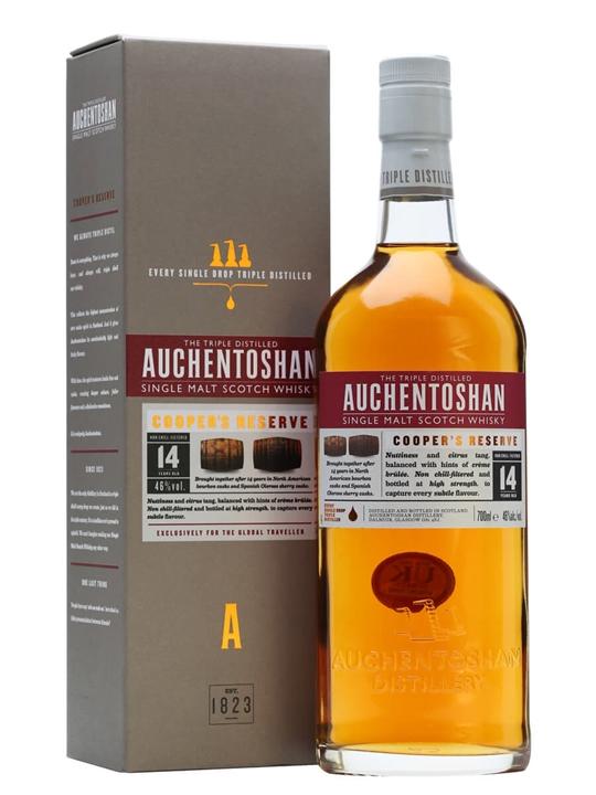 Auchentoshan Cooper's Reserve / 14 Year Old Lowland Whisky