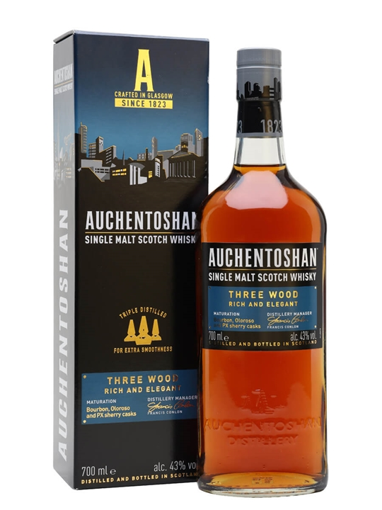 Auchentoshan Three Wood Lowland Single Malt Scotch Whisky