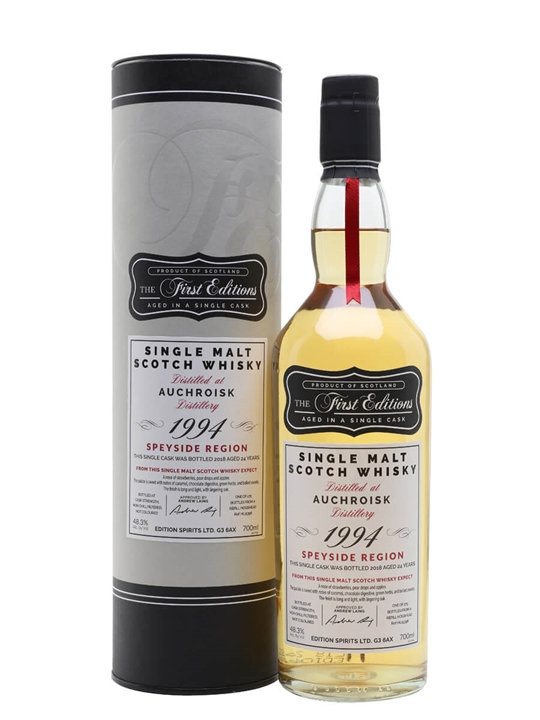 Auchroisk 1994 / 24 Year Old / First Editions Speyside Whisky