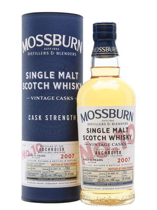 Auchroisk 2007 / 11 Year Old / Vintage Casks #10 / Mossburn Speyside Whisky