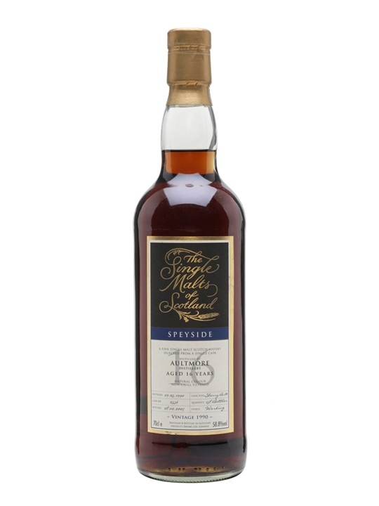 Aultmore 1990 / 16 Year Old / Sherry Cask Speyside Whisky