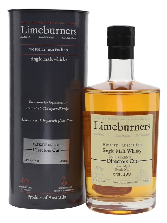 Limeburners Directors Cut Australian Single Malt Whisky