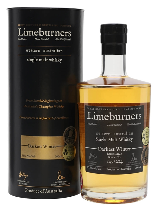 Limeburners Darkest Winter Australian Single Malt Whisky