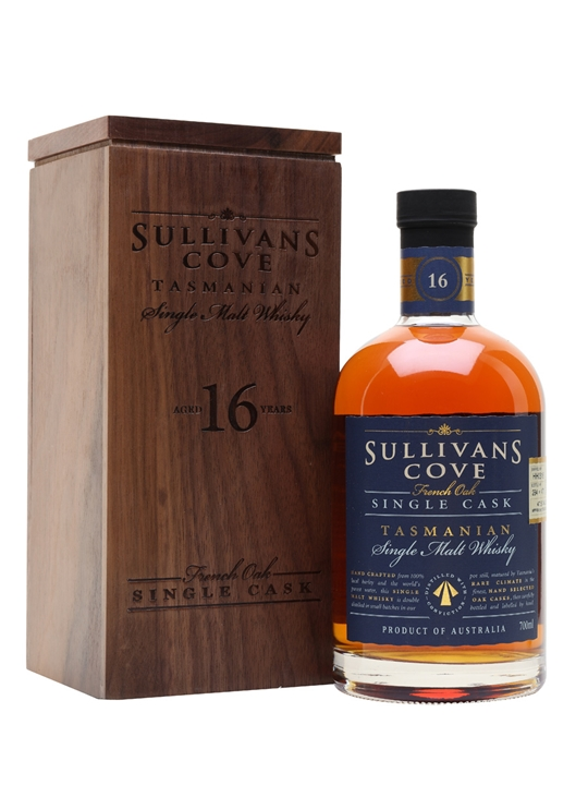 Sullivans Cove 16 Year Old / French Oak Single cask Australian Whisky