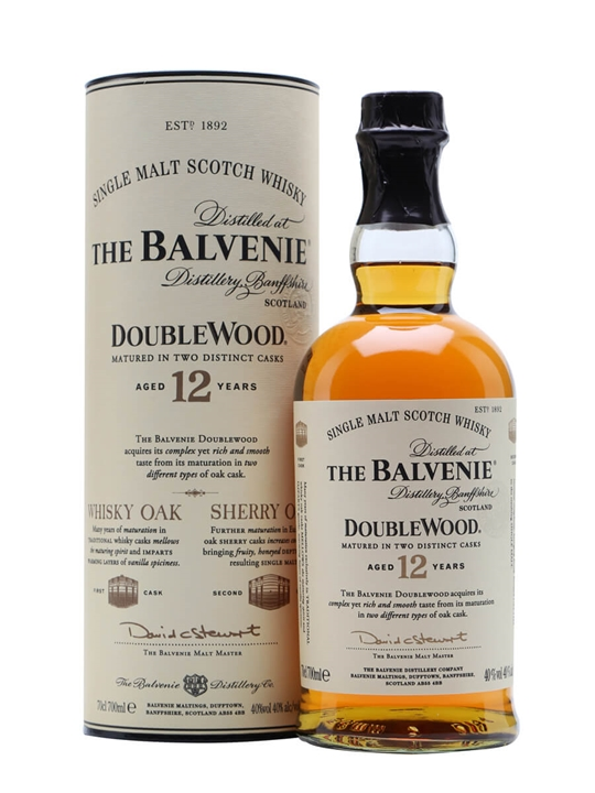 Balvenie 12 Year Old Doublewood Speyside Single Malt Scotch Whisky