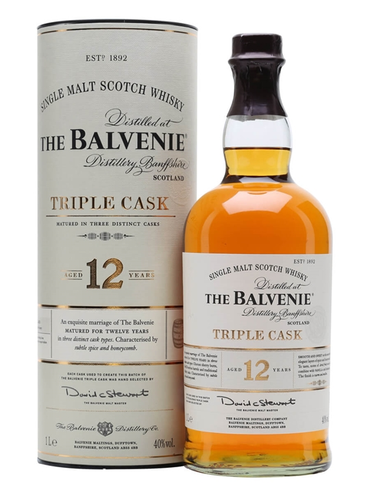 Balvenie 12 Year Old / Triple Cask / Litre Speyside Whisky