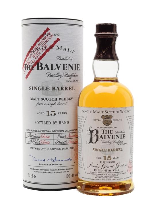 Balvenie 15 Year Old / Sandy Grant Gordon Speyside Whisky