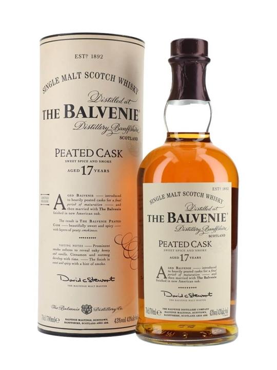 Balvenie 17 Year Old / Peated Cask Speyside Single Malt Scotch Whisky