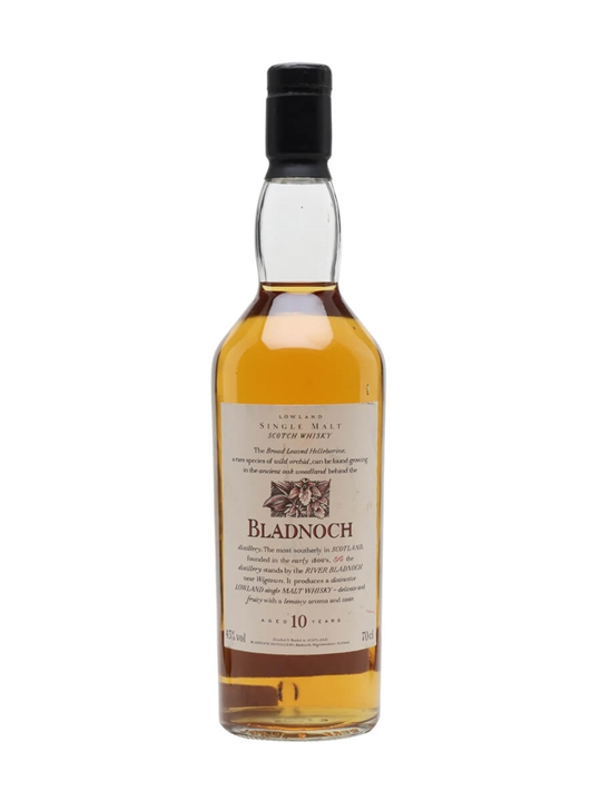 Bladnoch 10 Year Old / Flora & Fauna Lowland Single Malt Scotch Whisky
