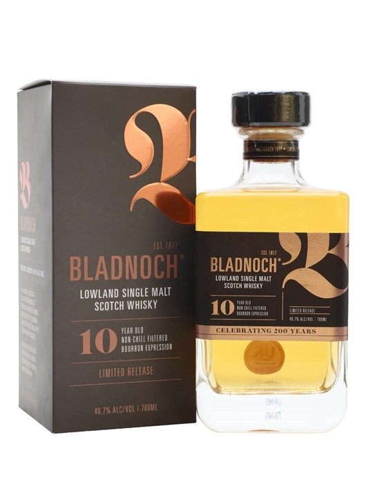Bladnoch 10 Year Old / Bourbon Cask Lowland Single Malt Scotch Whisky