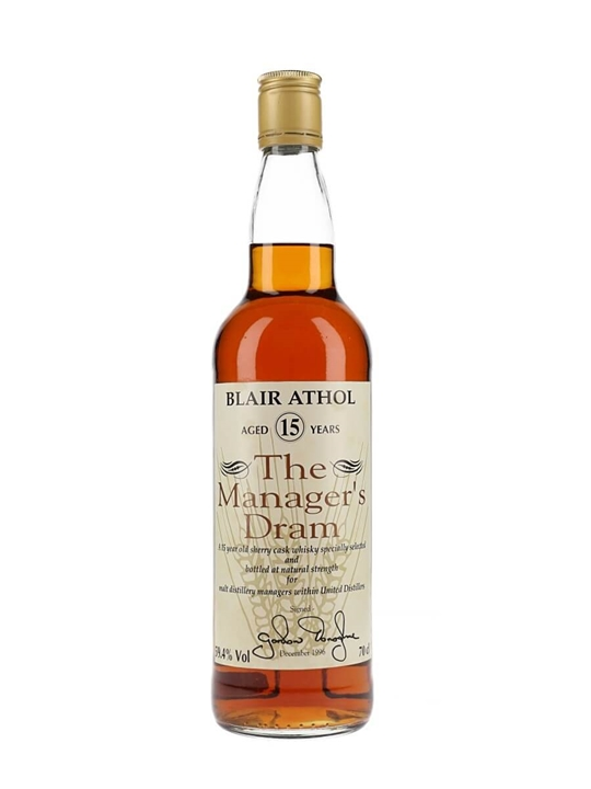 Blair Athol 15 Year Old / Managers Dram Highland Whisky