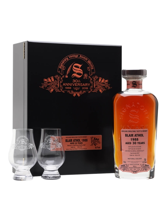 Blair Athol 1988 / 30 Year Old / Signatory 30th Anniversary Highland Whisky