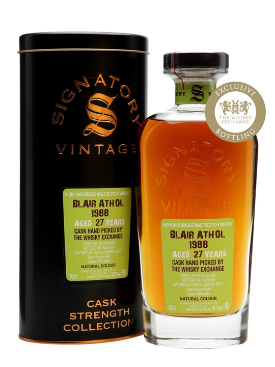 Blair Athol 1988 / 27 Year Old / Signatory / TWE Exclusive Highland Whisky