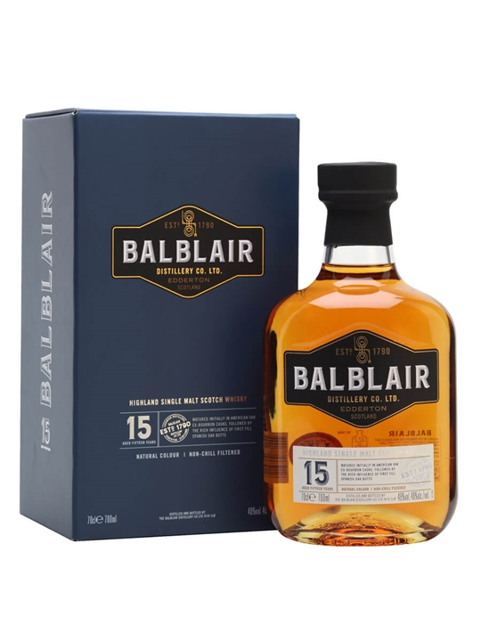 Balblair 15 Year Old Highland Single Malt Scotch Whisky