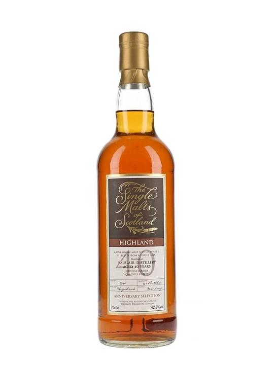 Balblair 40 Year Old / Single Malts of Scotland Highland Whisky