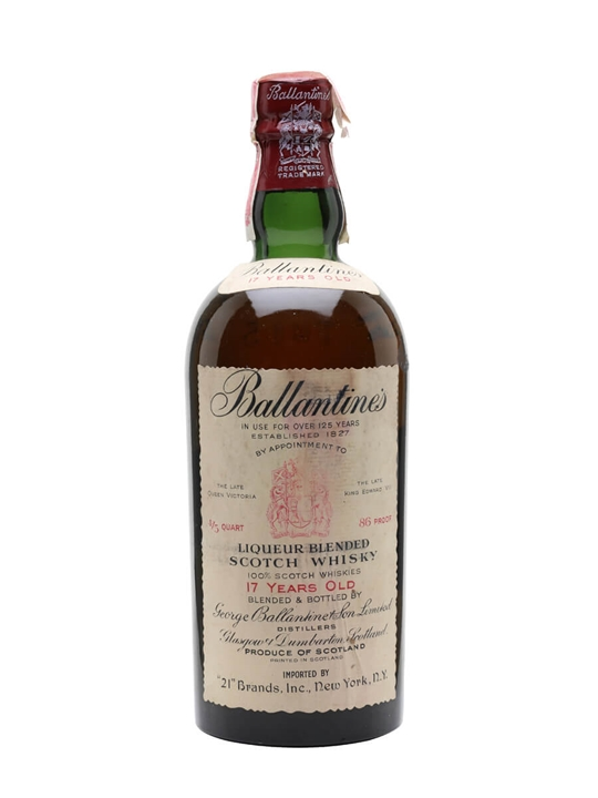 Ballantines 17 Year Old / Bot.1940s Blended Scotch Whisky