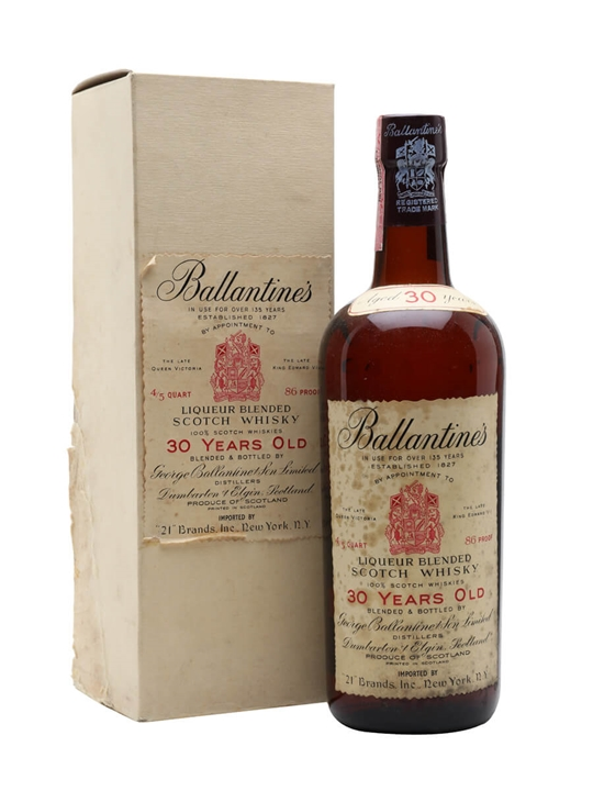 Ballantines 30 Year Old / Bot.1960s Blended Scotch Whisky