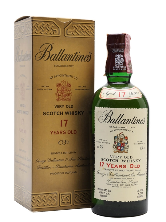 Ballantines 17 Year Old / Bot.1970s Blended Scotch Whisky