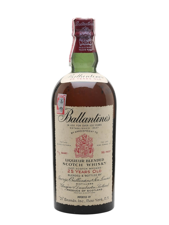 Ballantines 25 Year Old / Bot.1950s Blended Scotch Whisky