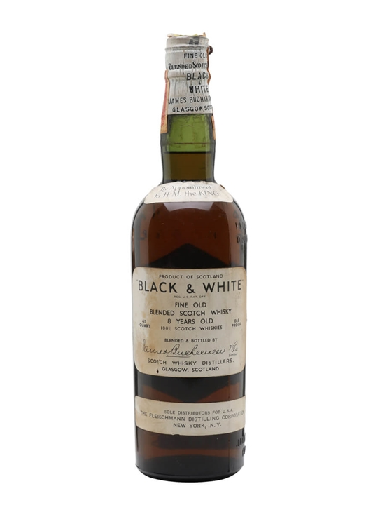 Black & White 8 Year Old / Bot.1930s / Spring Cap Blended Whisky