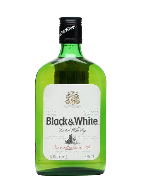 Black & White  Half Bottle Blended Scotch Whisky
