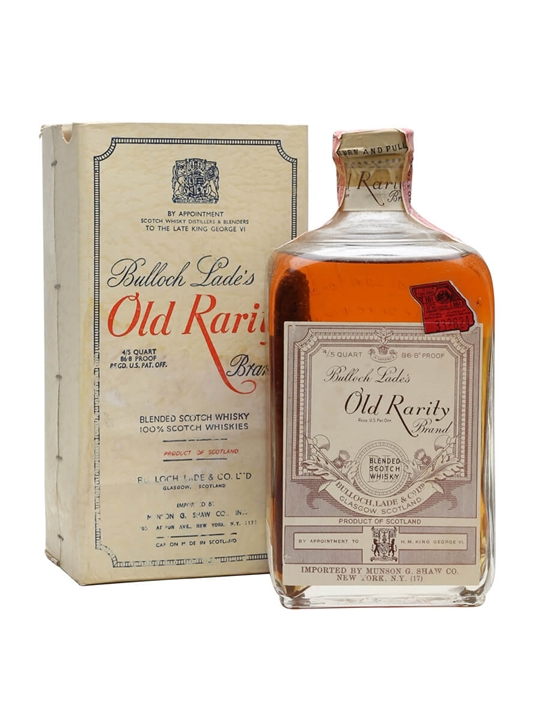 Bulloch Lade's Old Rarity / Bot.1950s Blended Scotch Whisky