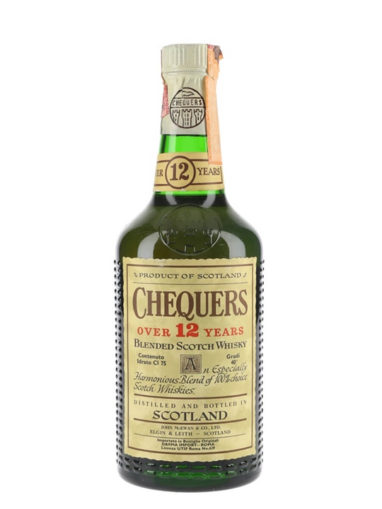 Chequers Over 12 Years Old / Bot.1970s Blended Scotch Whisky