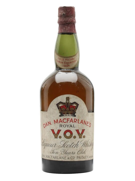Dan Macfarlane's Royal V.O.V / 10 Year Old / Bot.1940s Blended Whisky